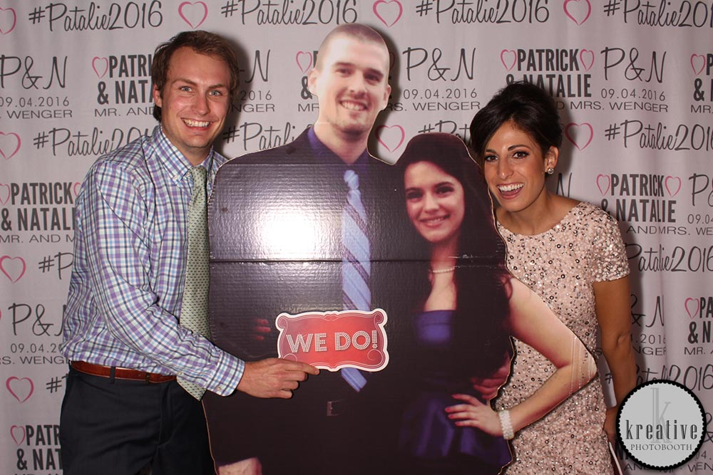 Wedding Step & Repeat with Life-size Cut Outs