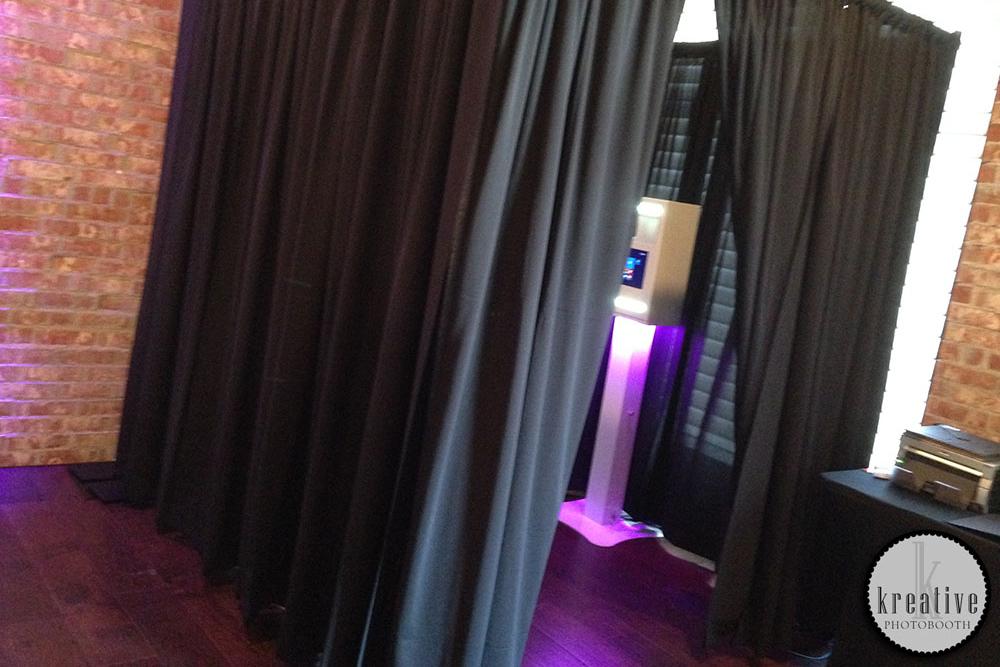 Enclosed Drape Booth - $150