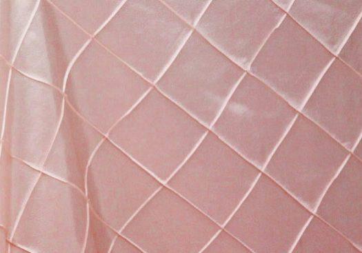 Pink / Blush Satin Pintuck
